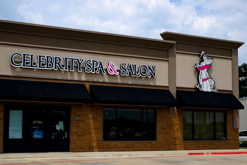 college station hair salon store front